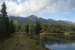 Jasper Cabin Lake Dam Topographic Surveying
